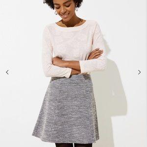 LOFT Textured Knit Flippy Skirt